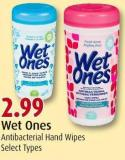 Wet Ones Antibacterial Hand Wipes
