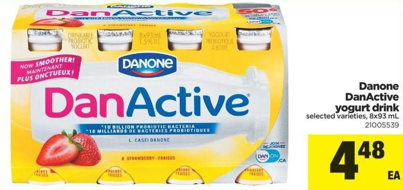 Danone Danactive Yogurt Drink - 8x93 Ml