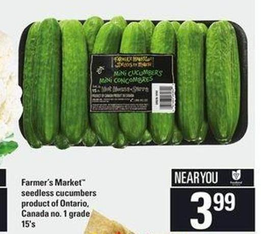 Farmer's Market Seedless Cucumbers - 15's