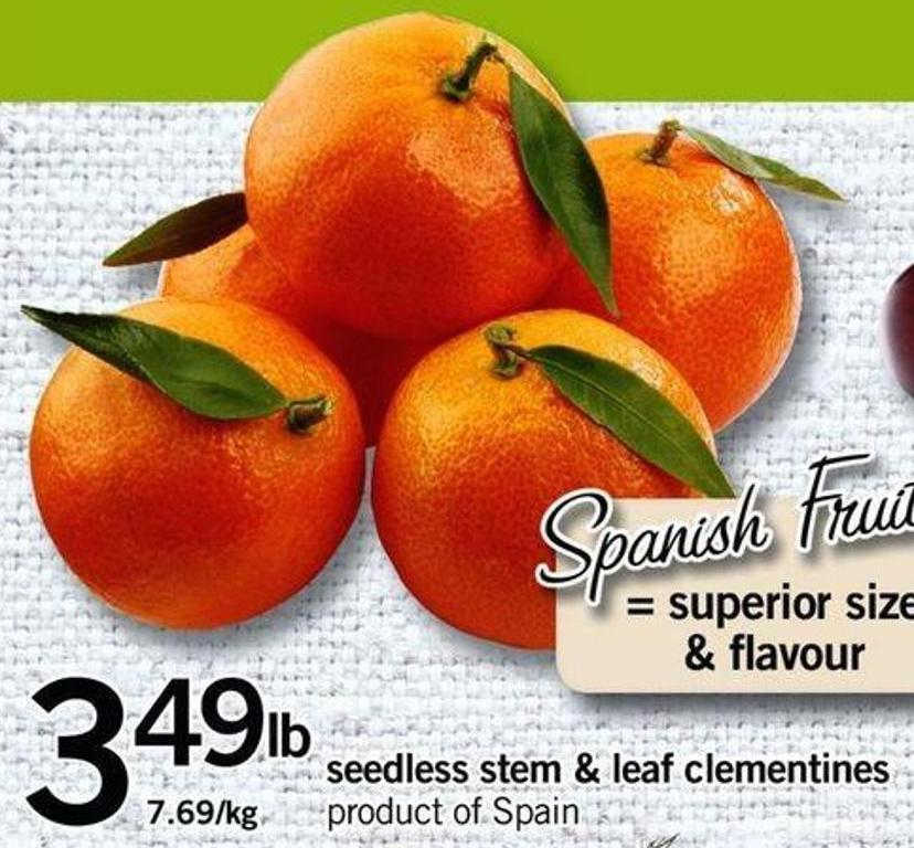 Seedless Stem & Leaf Clementines