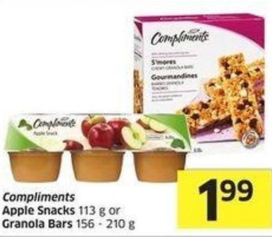 Compliments Apple Snacks 113 g or