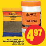 Arz Tahina - 907 g or Suraj Ground Black Pepper - 400 g