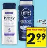 Ivory Or Nivea Body Wash