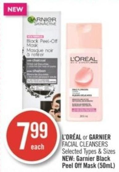 L'oréal or Garnier Facial Cleansers