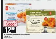 PC Buttermilk Or Free From Chicken Fillets - 750-907 g