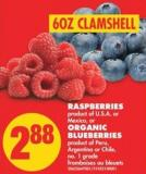 Raspberries or Organic Blueberries