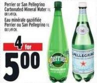 Perrier Or San Pellegrino Carbonated Mineral Water 1 L  Or 1.49 Ea.