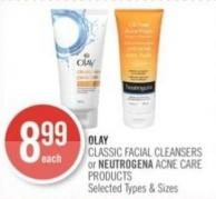 Olay Classic Facial Cleansers or Neutrogena Acne Care Products