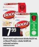 Boost Meal Replacement Drinks - 6x237 Ml Or Boost Protein+ Shake - 4x325 Ml