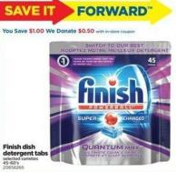 Finish Dish Detergent Tabs - 45-60's