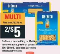 Dececco Pasta 454 G Or Mutti Pizza - Tomato Sauce - Paste Or Passata 156-680 Ml