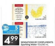 Sensations By Compliments Sparkling Water - 5 Air Miles Bonus Miles