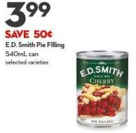 E.d. Smith Pie Filling 540ml Can