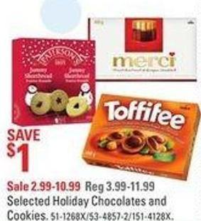 Selected Holiday Chocolates and Cookies