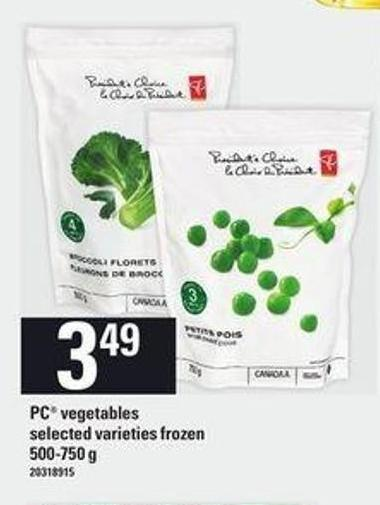 PC Vegetables - 500/750 G