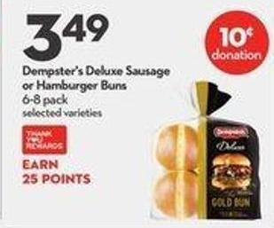 Dempster's Deluxe Sausage or Hamburger Buns