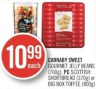 Carnaby Sweet Gourmet Jelly Beans (700g) - PC Scottish Shortbread (370g) or Big Box Toffee (800g)