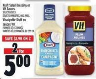 Kraft Salad Dressing Or VH Sauces