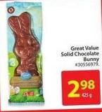 Great Value Solid Chocolate Bunny