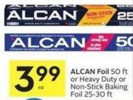 Alcan Foil 50 Ft or Heavy Duty or Non-stick Baking Foil 25-30 Ft