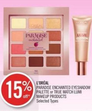 L'oréal  Paradise Enchanted Eyeshadow Palette or True Match Lumi Makeup Products