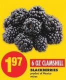 Blackberries - 6 Oz Clamshell