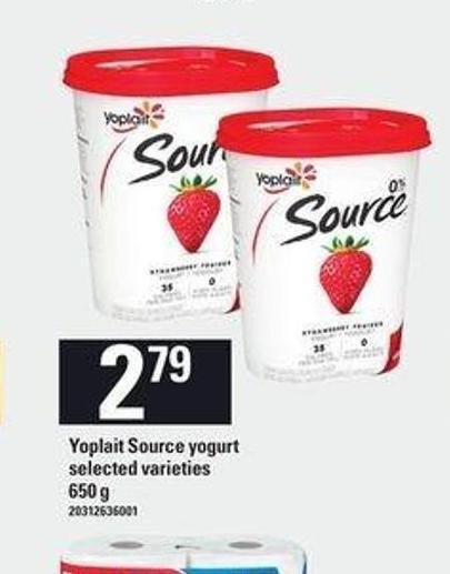 Yoplait Source Yogurt 650 g
