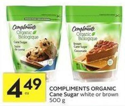 Compliments Organic Cane Sugar