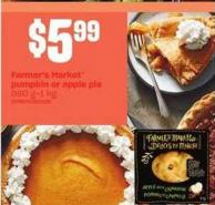 Farmer's Market Pumpkin Or Apple Pie - 960 G-1 Kg