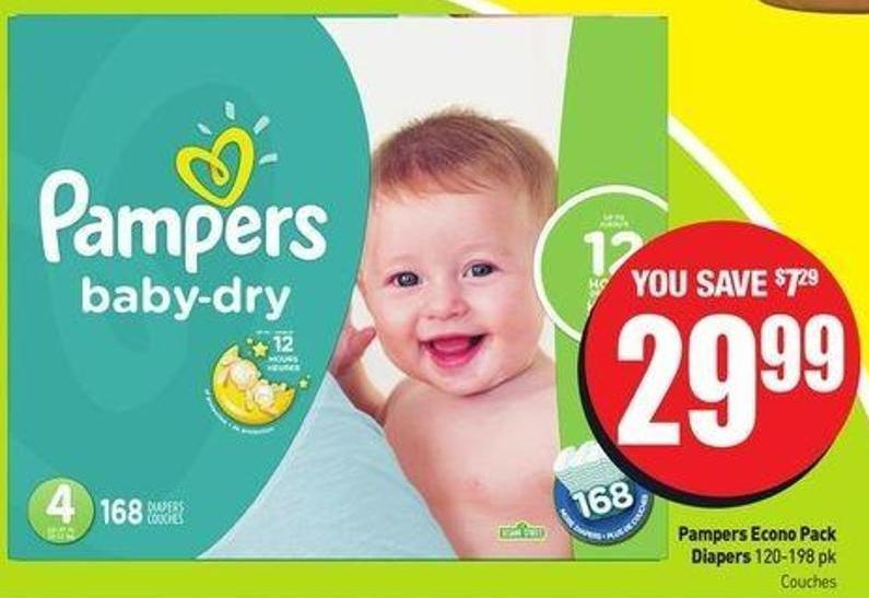 Pampers Econo Pack Diapers 120-198 Pk