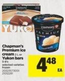 Chapman's Premium Ice Cream - 2 L Or Yukon Bars - 5-8's