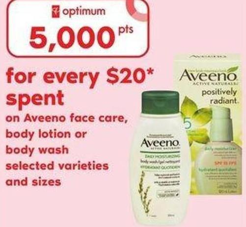Aveeno Face Care - Body Lotion Or Body Wash