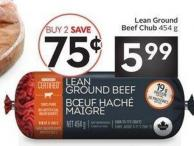 Lean Ground Beef Chub 454 g