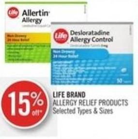 Life Brand Allergy Relief Products