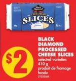Black Diamond Processed Cheese Slices - 410 g