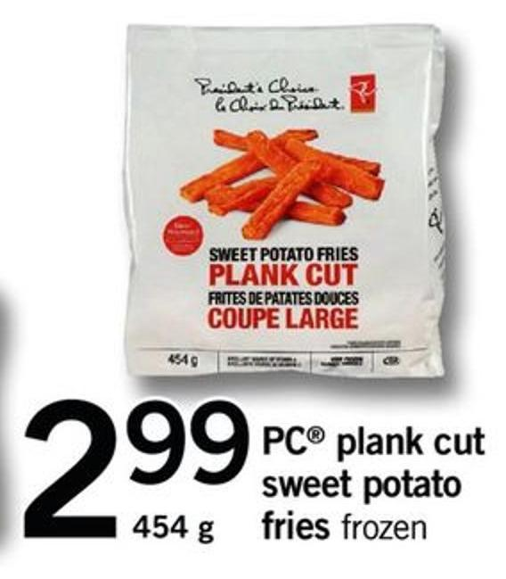 PC Plank Cut Sweet Potato Fries - 454 G