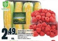 Raspberries 170 G - Product Of U.S.A. Sweet Corn 4 Pk