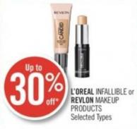 L'oreal Infallible or Revlon Makeup Products