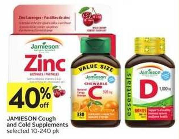 Jamieson Cough and Cold Supplements