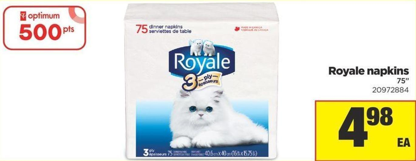 Royale Napkins - 75in