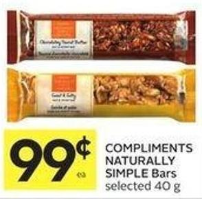 Compliments Naturally Simple Bars Selected 40 g