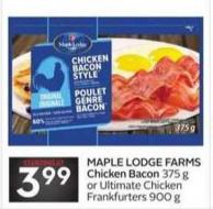 Maple Lodge Farms Chicken Bacon