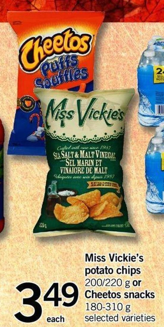 Miss Vickie's Potato Chips - 200/220 G Or Cheetos Snacks - 180-310 G