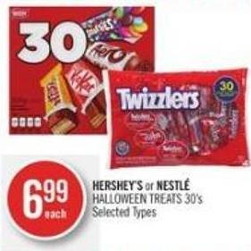 Hershey's or Nestlé Halloween Treats 30's