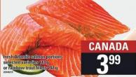 Fresh Atlantic Salmon Portions - 113 G Or Rainbow Trout Fillets - 142 G