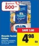 Royale Facial Tissue - 6x72's / 6x100's
