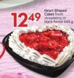 Heart Shaped Cakes Fresh Strawberry or Black Forest 665 g