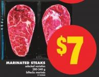 Marinated Steaks - 280-340 g