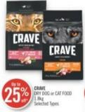 Crave Dry Dog or Cat Food 1.8kg