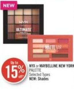 Nyx or Maybelline New York Palette